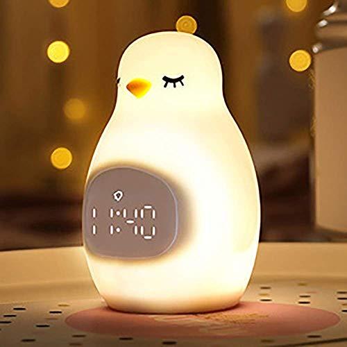 Reloj de noche, Reloj de alarma ajustable Dormitorio Temprano Dormitorio Alara Reloj despertador Luz de noche LED Alimentación Reloj de alarma (Color: Amarillo, Tamaño: 105MMX90MMX150MM) wmpa