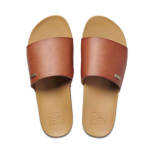 Reef Women's Sandals | Cushion Scout Slide, Saddle, 6