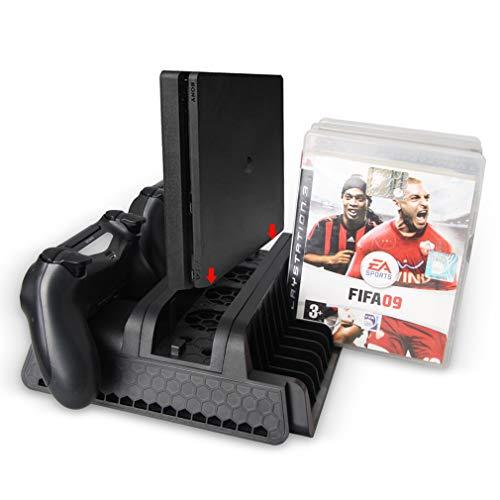 Enfriamiento soporte vertical - doble controlador de carga estación de acoplamiento, cargador del regulador de refrigeración con ventilador de almacenamiento para juegos de PS4, PS4 Delgado, PS4 Pro.
