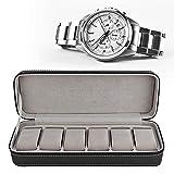 Yosooo Watch Storage Box, 6 Slot Watch Display Box PU Leather Waterproof Dustproof Watch Organizer Display Box with Separate Compartments