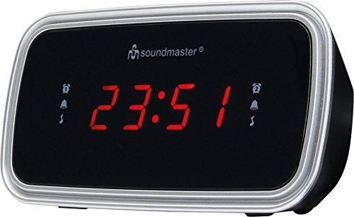 Soundmaster UR106SW UKW-PLL Uhrenradio Festsenderspeicher Dualalarm Snooze Sleep