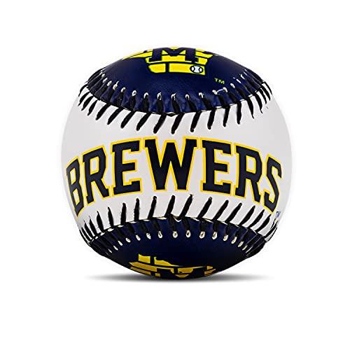 Franklin Sports Pelota de béisbol de Golpe Suave de la MLB, MLB, 2710F08, Milwaukee Brewers