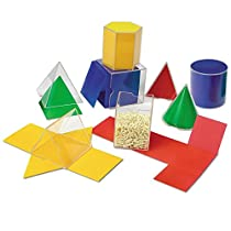 ラーニングリソーシズ 算数教材 透明立体図形 & 折りたたみ展開図 L...