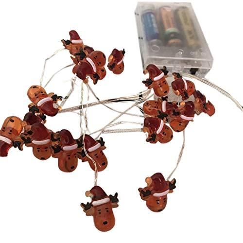lijun Navidad 2020 Shell Muñeco de Nieve Sujetador de árbol de Navidad Cadena de lámpara de Alambre de Cobre