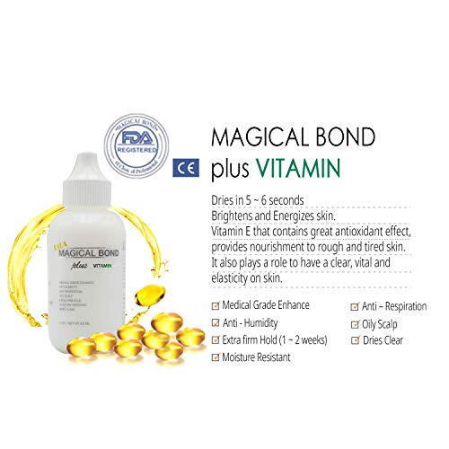 Magical Bond Plus Vitamin 2 oz. Extra Firm Hold. Adhesive for Lace Wigs and Hair Pieces. Lace Glue/Wig Glue/Hair Glue