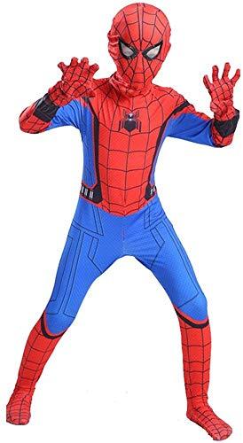 ZXDFG Disfraces Spiderman Nio,Superhroe Disfraz Spiderman Nio Homecoming Halloween Navidad Traje Spiderman Nio Cosplay Mscara,Mscara y Disfraz Independientes,Spandex/Lycra