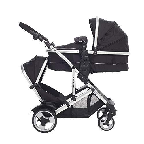 Midnight black Kids Kargo Triple stroller Baby 15Kg