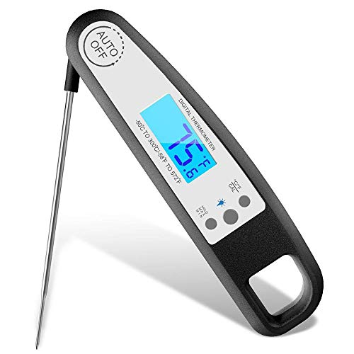 Digital Instant Read Meat Thermometer - Best Accurate Easy to Read Kitchen Thermometer - Ideal for BBQ, Smoker, Candy, Bread, Oven Roasting and Cooking