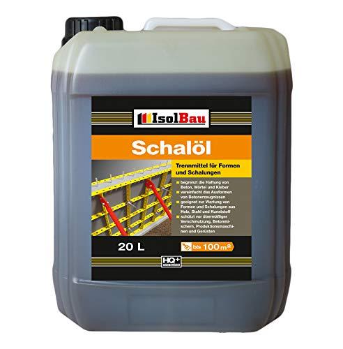 20 Liter Schalöl Professional Schaloel Trennmittel Betontrennmittel Schalungsöl Trennmittel für Formen und Schalungen Holz Metall Matrizenschalungen Mischerschutz