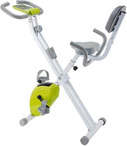 WGFGXQ Bicicleta estática Bicicleta de Ciclismo para Interiores Bicicleta Plegable magnética Vertical Bicicleta estacionaria reclinada con Asiento cómodo Soporte para Tableta para teléfono Ligero