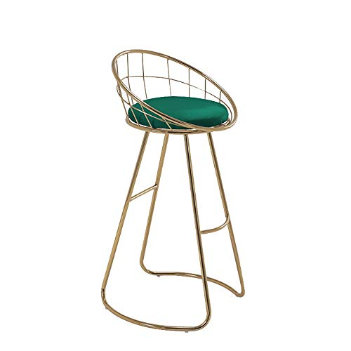Barstools-BYTGK smeedijzeren barkruk zachte zithoogte 70 cm hoge rugleuning kruk ontbijt huisstoelen keuken Salon J1127
