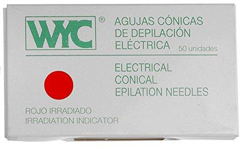 WYC Aguja Depilación Cónica, n. 1-50 unidades