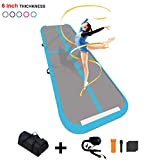 FunWater 10ft/13ft/20ft Air Track Inflatable Gymnastics Tumbling Mat 4in/6inThick Tumbling Air Track Mat with Electric Air Pump for Cheerleading/Practice Gymnastics/Beach/Gym/Home Use
