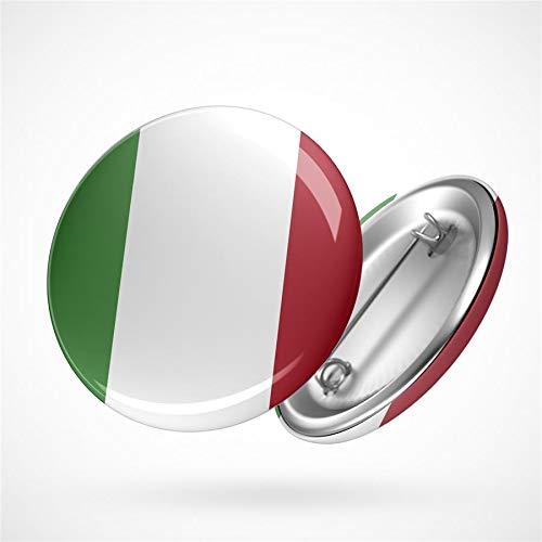 Hellweg Druckerei Button Anstecker Italy Italien Flagge Europa Flag Badge Abzeichen Pin