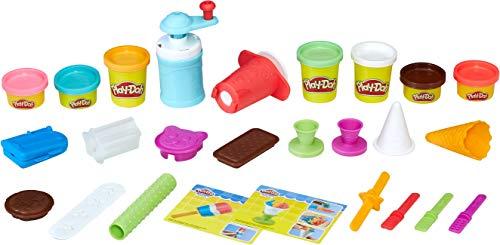 Play-Doh Kitchen Creations Eis-Spielzeug für Kinder ab 3 Jahren, mit 7 ungiftigen Farben