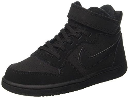 Nike Court Borough Mid (Psv)-870026, Jungen Basketballschuhe, Schwarz (Black Black), 31 EU