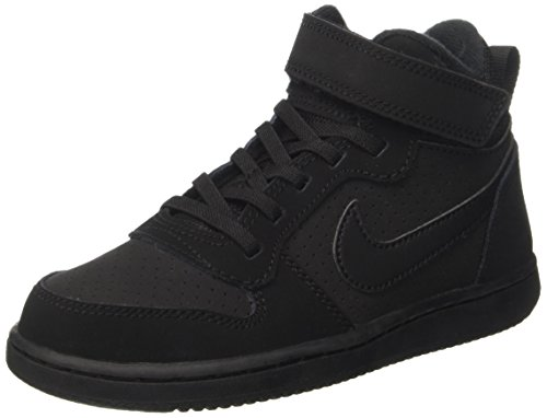 Nike Court Borough Mid (Psv), Sneaker Bambino, Nero (Black Black), 29.5 EU
