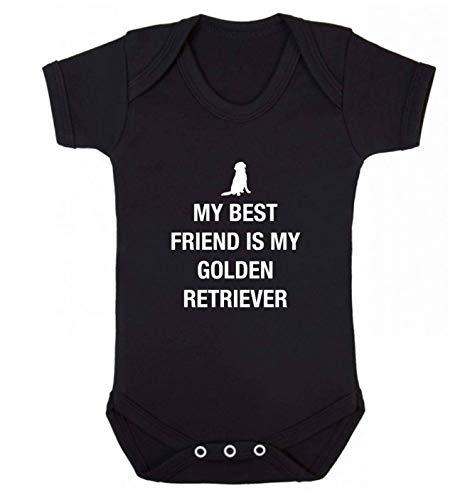 Flox Creative Gilet pour bébé Best Friend Golden Retriever - Noir - XS