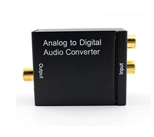 origin オーディオ変換機 アナログ音声RCA(R/L)→光デジタル(Toslink)・同軸デジタル信号変換 光ケーブル付属 48khz対応 変換コンバータ ADC A2DSET2