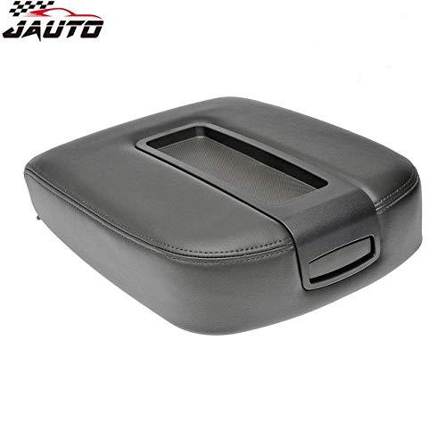 JAUTO Leather Center Console Lid Kit for 2007-2014 Chevy Chevrolet Silverado,Tahoe,Suburban,Avalanche,GMC Sierra,Yukon,Yukon XL - Replaces 15217111 15941534 - Black