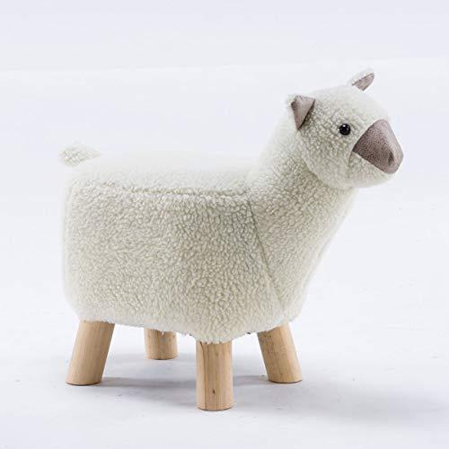 Möbel Akut Tierhocker Polsterhocker Kinder - Hocker Deko - Tiere - Animals (Alpaka klein weiß)