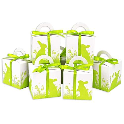 Papierdrachen - Scatole per Pasqua Stampate - Confezioni Regalo Bianco per Pasqua - Confezione Regalo Elegante - Design 4