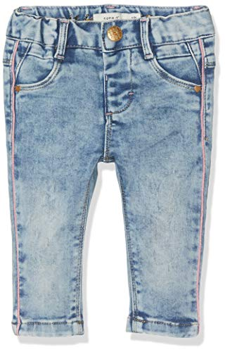 NAME IT Nbfsalli Dnmtia 2158 Pant Noos Pantalones, Azul (Medium Blue Denim...