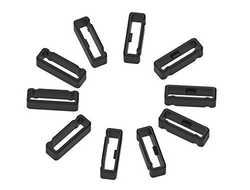 Ruentech Lot de 10 Anneaux de Fermeture en Silicone compatible avec garmin Forerunner 225, 10 PCS