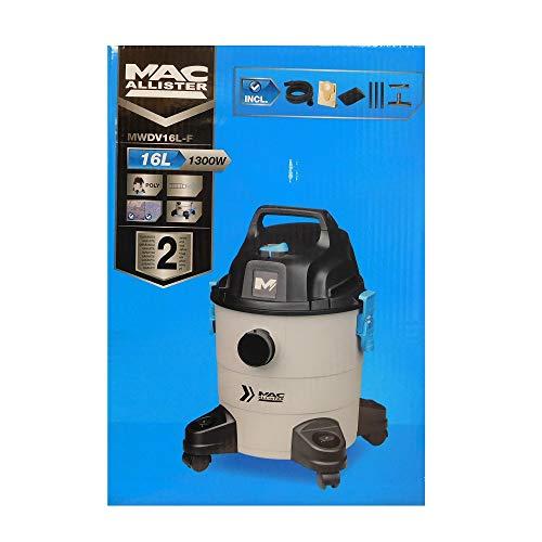 Les Colis Noirs LCN - Aspirateur Mac Allister MWDV16L-F 16L 1300W - Liquide Poussière Eau - 095
