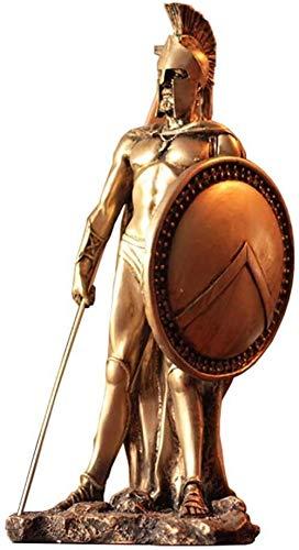 Escultura,Escultura De Estatua De Soldado Medieval Guerrero Espartano Modelo Artesanal Oficina Sala De Estar Balcón Decoración De Escritorio H25Cm