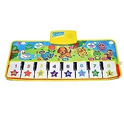 small KAREZONINE Piano Mats, Children's Keyboard Mats Playmats Educational Toys Birthdays, Christmas, Easter, Gifts …