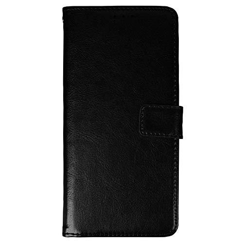 Funda para Blackview A70 Carcasa de Teléfono de Cuero PU Premium Estuche Protector para Billetera con Tapa Magnética, Compatible con Blackview A70, Negro