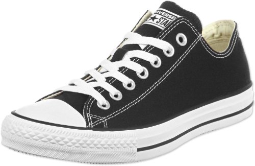 Converse Unisex Chuck Taylor All Star Low Top Black/White Sneakers - 6.5 B(M) US Women / 4.5 D(M) US Men