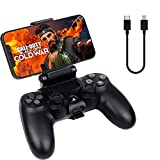 2 Pack PS4 Controller Phone Clip Mount for Remote Play, Adjustable Mobile Android/iOS Smartphones Gaming Clamp Holder Stand Grip Bracket Compatible with Dualshock 4/PS4 Slim/PS4 Pro Controller, Black