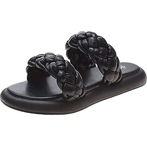 WBS Dames sandalen zomer slippers vrouwen sandalen slipper casual comfort open teen slip op platform sandalen strandschoenen casual walking pantoffels