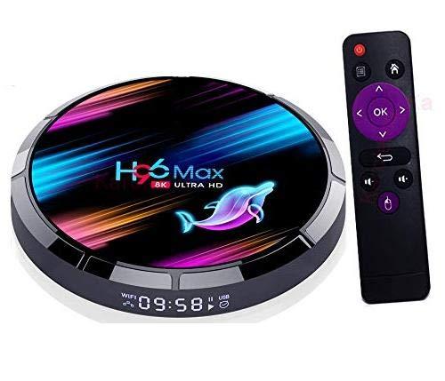 Amlogic S905X3 Android 9.0 TV Box 4GB RAM 128GB ROM H96 MAX X3 TV Box S905X3 64-bit Quad Core with Dual Wi-Fi 2.4G/5.0G BT 4.0/ 3D Ultra HD 8K/ H.265/ 1000M LAN/USB 3.0 Smart TV Box
