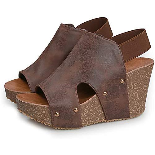 Sandalias de mujer Zapatillas ortopédicas antideslizantes Vintage para mujer Sandalia de verano de talla grande para niña,F,41 EU