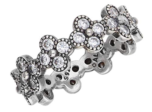 zirconi fiori Pandora Silver Ring 191000CZ-52 donne orientali