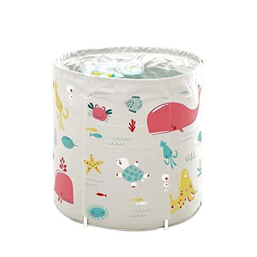 XYZMDJ Bewegliche Faltbare Badewanne, Separates Badezimmer Whirlpool Home Baby Innenpool Kinder Baden Barrel Größe, 70cm * 80cm