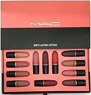 MAC Matte Lasting Lipstick Set 12 in 1