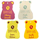 Happy Wax Scented Hanging Car Cub Air Freshener - Cute Car Freshener Infused with Natural Essential Oils. - Relax & Refresh 4-Pack (Fresh Cotton, Lemon Verbena, Vanilla Orchid, Calming Lavender)
