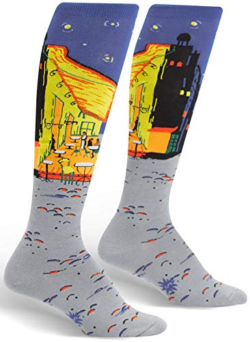 Sock It To Me Women's Vincent Van Gogh Cafe Terrace at Night Knee High