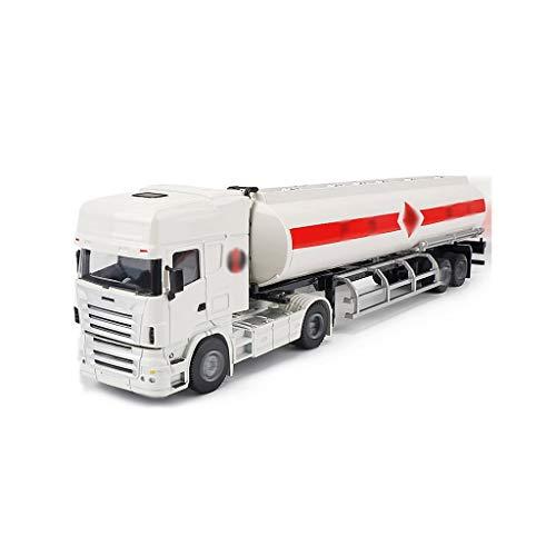 LINGLING-JOUETS Grande Simulation 1/50 Ingénierie citerne en Alliage modèle de Voiture Transporter des Enfants Toy Car Boy Model Car Cadeau (Color : White)
