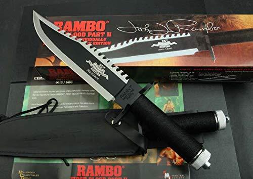 Original Rambo 2 - First Blood Part II Messer - Limitierte Signatur Edition 25th. Anniversary - 1 von 5.000 Stück - wunderschönes Sylvester Stallone Rambo Sammlermesser *ORIGINAL - NEU - OVP*