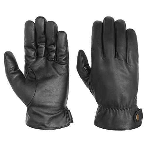 Stetson Conductive Lederhandschuhe Handschuhe Herrenhandschuhe Fingerhandschuhe Herren - mit Futter Herbst-Winter - 9 HS schwarz
