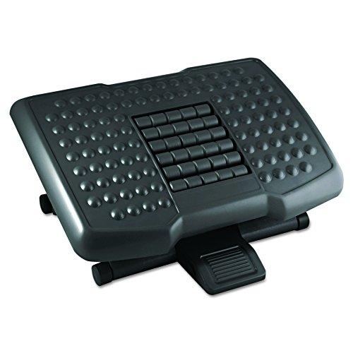 Kantek Premium Adjustable Footrest with Rollers, 4 to 6.5-Inch Height, Black (FR750)