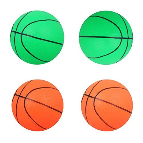 Harilla 4pcs PVC Coloreado 6'Pelota Hinchable de Baloncesto Inflable Niños Juguete Deportivo Infantil