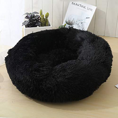 Pluche donut hondenmand, ronde warme zachte comfortabele knuffel kennel zachte puppy honden kattenbank