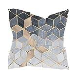 Sciarpa quadrata Morbido blu sfumato Geometrico Moda Sciarpa al collo in raso Sciarpe per capelli Fazzoletto da collo per le donne