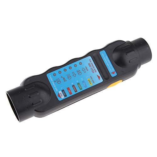 H HILABEE 7Pin Trailer Towing Tester Luces LED Cableado Del Enchufe Del Circuito Socket 12V TS05T-7